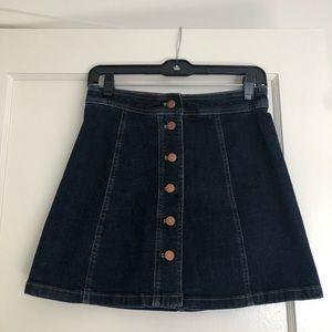 Madewell dark denim mini skirt
